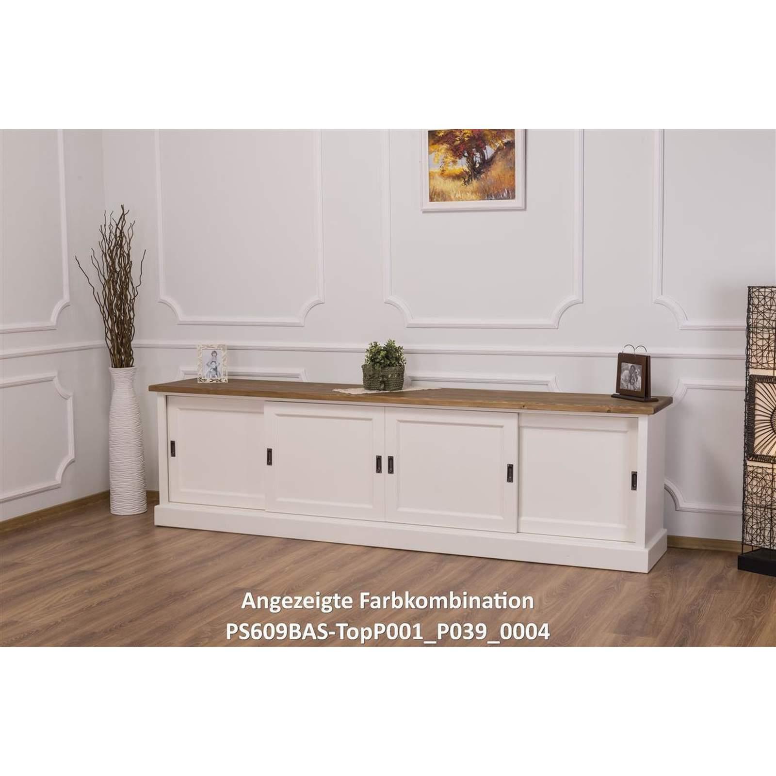 langes tv sideboard mit schiebet ren massivholz landhausstil 514 29. Black Bedroom Furniture Sets. Home Design Ideas