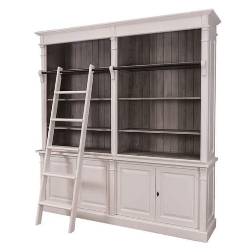 Bücherregal Mit Leiter Im Landhausstil Konfigurieren 1100